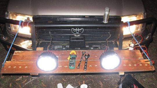 Att montera extraljus är enkelt för en händig man